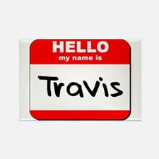 Hello my name is Travis Rectangle Magnet