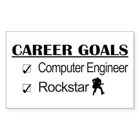 Computer Engineer Career Goals Rockstar Sticker (R