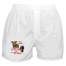 Pitbull with Lipstick Boxer Shorts