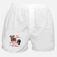 Pitbull with Lipstick Boxer Shorts
