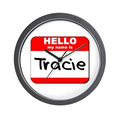 Hello my name is Tracie Wall Clock