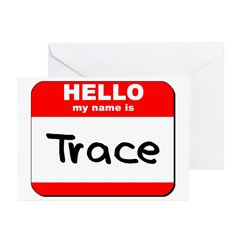Hello my name is Trace Greeting Cards (Pk of 20)