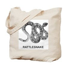 Vintage Rattlesnake Tote Bag