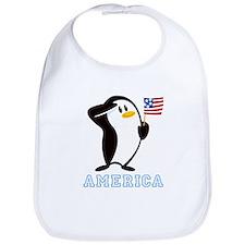 Proud Penguin AMERICA Bib