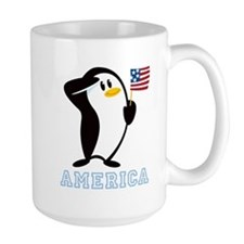 Proud Penguin AMERICA Mug
