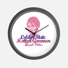 Cool Palin lipstick hockey mom Wall Clock