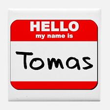 Hello my name is Tomas Tile Coaster
