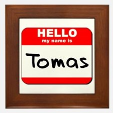 Hello my name is Tomas Framed Tile