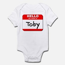 Hello my name is Toby Infant Bodysuit