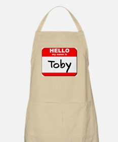 Hello my name is Toby BBQ Apron