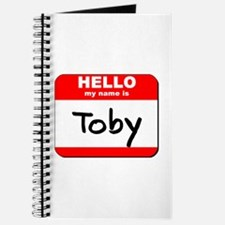 Hello my name is Toby Journal