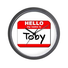Hello my name is Toby Wall Clock