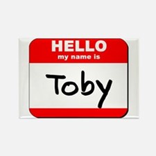 Hello my name is Toby Rectangle Magnet