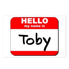 Hello my name is Toby Postcards (Package of 8)