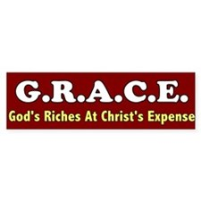 Grace Bumper Bumper Sticker