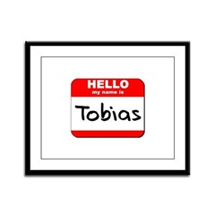 Hello my name is Tobias Framed Panel Print