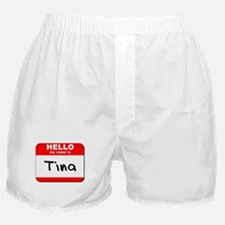 Hello my name is Tina Boxer Shorts