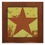 Rusty Star Framed Tile