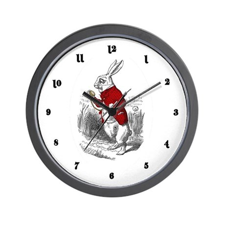 "The White Rabbit ""I'm Late"" Wall Clock"