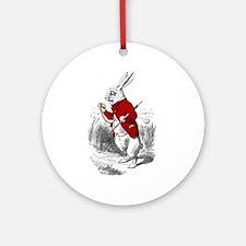 """The White Rabbit """"I'm Late"""" Ornament (Round)"""