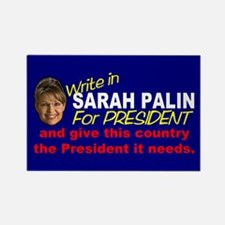 Write In Palin President Rectangle Magnet