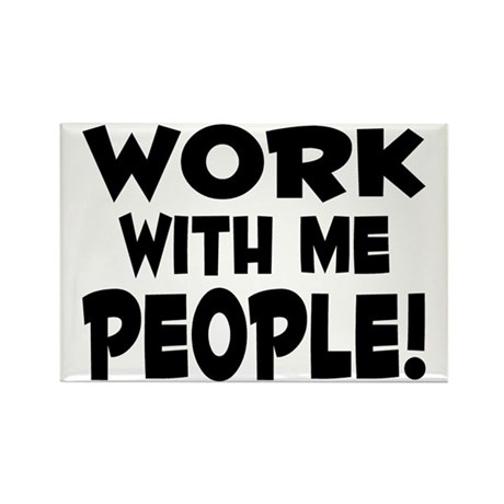 Work People Rectangle Magnet (10 pack)