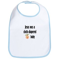 Jesus cloth-diapered baby Bib