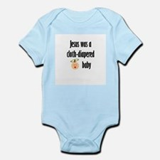 Jesus cloth-diapered baby Infant Creeper