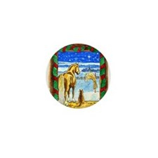 Stable Christmas Mini Button (10 pack)