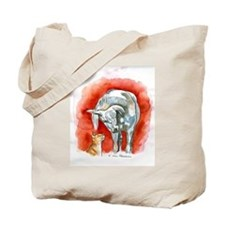 Horse and Cat Tote Bag