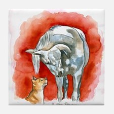 Horse and Cat Tile Coaster