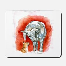 Horse and Cat Mousepad