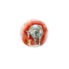 Horse and Cat Mini Button