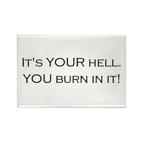 Hell is Your Invention Rectangle Magnet (100 pack)
