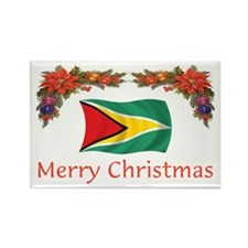 Guyana-Merry Christmas Rectangle Magnet