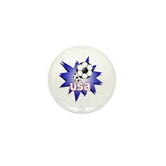 Soccer USA Mini Button (10 pack)