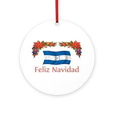 Honduras Feliz Navidad 2 Ornament (Round)