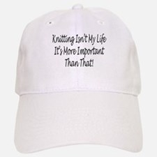 Knitting Is My Life Baseball Baseball Cap