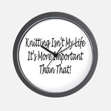 Knitting Is My Life Wall Clock