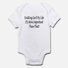 Knitting Is My Life Infant Bodysuit