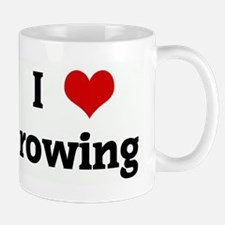 I Love rowing Small Small Mug