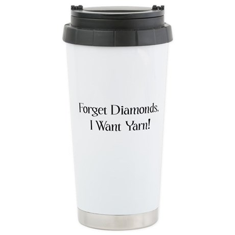 Diamond Or Yarn Stainless Steel Travel Mug