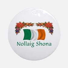 Irish Nollaig Shona 2 Ornament (Round)