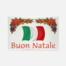 Italy Buon Natale 2 Rectangle Magnet