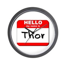 Hello my name is Thor Wall Clock