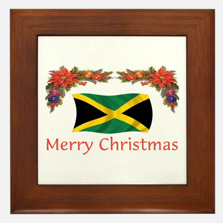 Jamaica Merry Christmas 2 Framed Tile