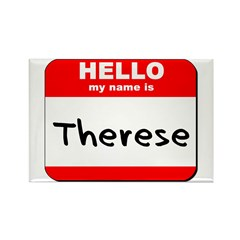 Hello my name is Therese Rectangle Magnet (10 pack