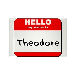 Hello my name is Theodore Rectangle Magnet (10 pac