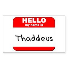 Hello my name is Thaddeus Rectangle Decal