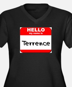 Hello my name is Terrence Women's Plus Size V-Neck